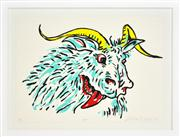 Sale 8330A - Lot 60 - Adam Cullen (1965 - 2012) - Goat 57 x 77cm