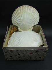 Sale 8331A - Lot 570 - 1950s Set of 6 Japanese Scallop Shell Plates, boxed
