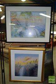 Sale 8506 - Lot 2082 - Arthur Boyd and Lloyd Rees decorative print (framed/various sizes)