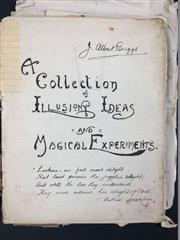 Sale 8539M - Lot 101 - The J. Albert Briggs Papers - A Collection of Illusions, Ideas & Magical Experiments, legible handwritten manuscript of over 250...