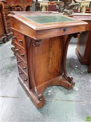 Sale 8559 - Lot 1004 - Good Victorian Rosewood Davenport, with gallery top, leather writing slope with internal dummy drawers, stationary drawer (locked) &...