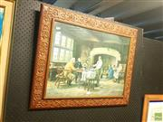 Sale 8645 - Lot 2089 - Decorative Print After M. Dovaston - The Landlords Brew 61.5 x76.5cm (frame)