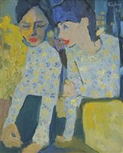 Sale 8708A - Lot 515 - John Rigby (1922 - 2012) - Twins, 1966 29.5 x 24cm