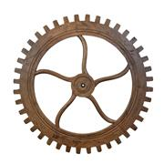 Sale 9075T - Lot 25 - A Hardy Interiors original design large cog,  carved from solid Fruitwood. 198 cm round H 8cm
