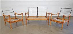 Sale 9255 - Lot 1070A - Vintage cane 3 piece suite comprising of 2 seater and 2 carvers, no cushions available (h71 x w107 x d90cm)
