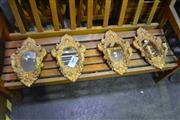 Sale 8039 - Lot 1067 - Set of 4 Wall Mounted Mirrors w Candle Stick Holders