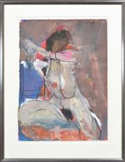 Sale 8295 - Lot 100 - Artist Unknown (XX) - Seated Nude, 1990 77 x 56cm