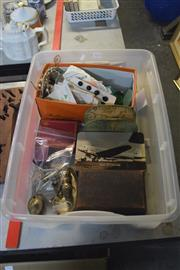 Sale 8189 - Lot 2172 - Box of Sundries & Small Vintage Wares