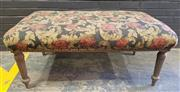 Sale 9009 - Lot 1070 - French Style Fabric Upholstered Footstool Or Bench (H55 x W130 x D80cm)