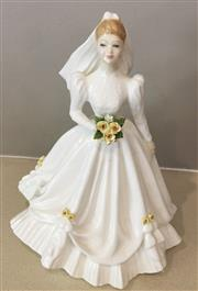 Sale 9031H - Lot 98 - Royal Doulton, Bride (White) HN 3284, No chips in perfect condition, 20cm High -