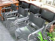 Sale 7972A - Lot 1090 - Set of 7 Marcel Breuer Style Leather Directors Chairs (1AF)