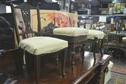 Sale 8099 - Lot 824 - Heavily Carved Chair w Parlour Chair & Piano Stool