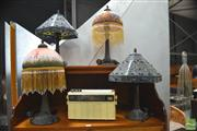 Sale 8299 - Lot 1080 - Collection of Four Leadlight Table Lamps