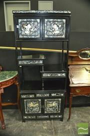 Sale 8337 - Lot 1005 - Mother of Pearl Inlaid Wall Unit