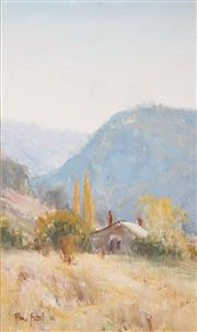 Sale 8511A - Lot 5089 - Allan Fizzell (1944 - ) - Cottage in the Highlands, 1986 49.5 x 29.5cm