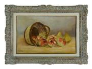 Sale 8660A - Lot 89 - Antique French school - Still Life of Apples 40 x 62cm