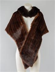 Sale 8740F - Lot 129 - Two Cornelius, Sydney fur stoles; the first a smaller mink collar and the larger possibly mink