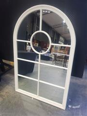 Sale 8951 - Lot 1003 - Timber Arch Framed Sectional Mirror (H:150 x W:100)