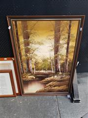 Sale 8969 - Lot 2091 - Large Signed Oil Painting
