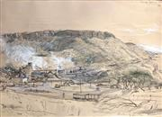 Sale 9041 - Lot 2022 - Kenneth Jack, Coalcliff Coalmine, 1969, pencil and bodycolour, 25 x 35cmframe size: 57 x 72cm, signed lower right, titled upper right