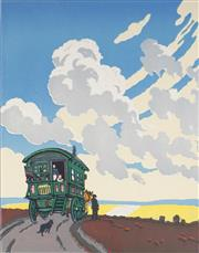 Sale 9078A - Lot 5065 - John Hall Thorpe (1874-1947) - The Caravan 33.5 x 26.5 cm (sheet: 43.5 x 34.5 cm)