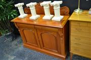 Sale 8046 - Lot 1011 - Timber Carved Back Credenza