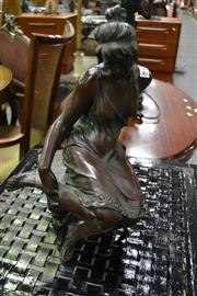 Sale 8127 - Lot 819 - Bronze Style Seated Lady Figure