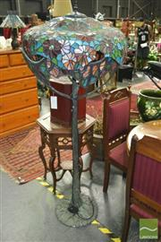 Sale 8299 - Lot 1020 - Large Tree Form Leadlight Standard Lamp