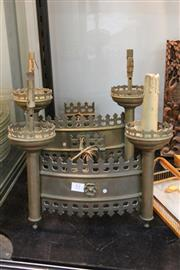 Sale 8346 - Lot 81 - Pair of 19th Century Brass Gothic Wall Lights