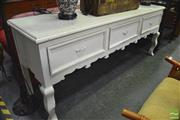 Sale 8312 - Lot 1045 - French Style Sideboard with Three Drawers