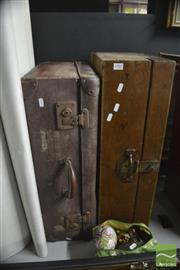 Sale 8407T - Lot 2483 - Wooden Chest with A Globite Suitcase