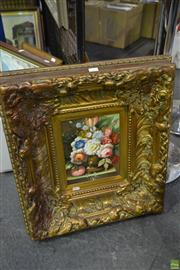 Sale 8563T - Lot 2241 - Artist Unknown Still Life acrylic on synthetic canvas, signed lower 59 x 53cm (framed)