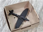 Sale 8809B - Lot 645 - Vintage Timber Recognition Silhouette Spotter Aircraft Model of Seafire F.O.RMK 47, wooden, as new in box (wingspan 16cm)