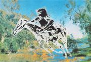 Sale 8838A - Lot 5025 - Sidney Nolan (1972 - 1992) - Untitled (Kelly On Horse) 55.5 x 81cm