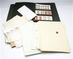 Sale 9164 - Lot 413 - Collection of stamps inc folder and loose examples