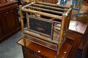 Sale 7987A - Lot 1328 - Bamboo Magazine Rack w Drawer