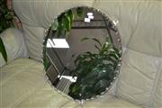 Sale 8046 - Lot 1089 - Circular Hanging Mirror With Pie Crust Edge