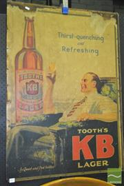 Sale 8287 - Lot 1003 - Vintage Tooths KB Larger Poster Mounted on Board