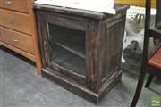Sale 8299 - Lot 1091 - Single Glass Front Door Cabinet