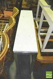 Sale 8371 - Lot 1053 - Metal Console Table w Marble Top