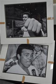 Sale 8453 - Lot 2003 - Pair of Muhammad Ali limited edition photographs (mounted under perspex, unframed), 39 x 49cm, each