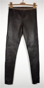 Sale 8460F - Lot 35 - A pair of taupe Rick Owens F/W 2012 mushroom leather pants, size S