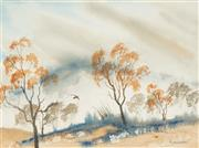 Sale 8569 - Lot 2043 - Margaret Woodward (1938 - ) - Valley Mists 25.5 x 35cm