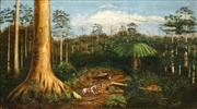 Sale 8538 - Lot 559 - Attributed to William Huddlestone (1858 - 1915) - Clearing through the Forest 41.5 x 70.5cm