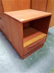 Sale 8585 - Lot 1018 - Pair of G-Plan Teak Bedside Lockers