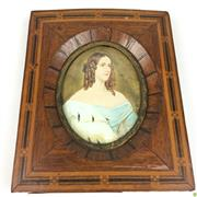Sale 8562R - Lot 177 - Timber Framed Miniature (some losses to base of frame) (H: 14.5cm)