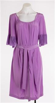 Sale 8640F - Lot 60 - A BCBG Maxazria silk dress with slip and belt, size 10.