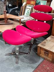 Sale 8676 - Lot 1020 - Reproduction Corona Chair and Footstool