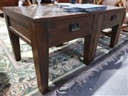 Sale 8744 - Lot 1092 - Pair of Oak Side Tables with Single Drawer