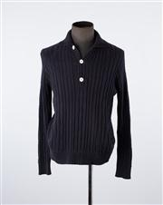 Sale 8770F - Lot 51 - A Paul & Joe, Paris navy knit sweater with mother of pearl buttons , size medium